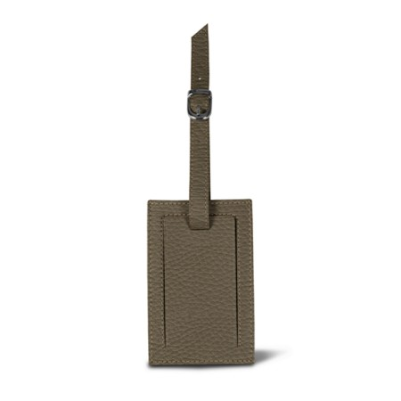 Luggage tag - Dark Taupe - Granulated Leather