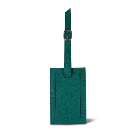 Bag Tag - Sea Green - Granulated Leather