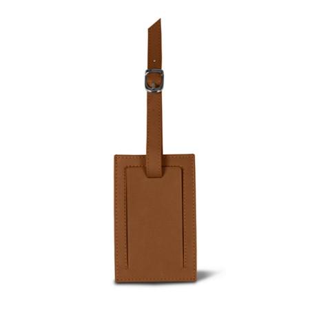 Luggage tag - Tan - Smooth Leather