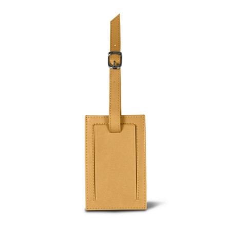 Bag Tag - Yellow - Smooth Leather