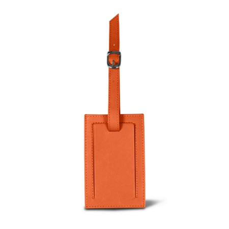 Bag Tag - Orange - Smooth Leather