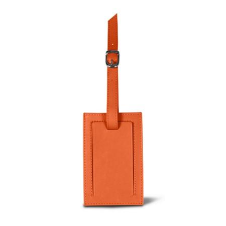 Luggage tag - Orange - Smooth Leather