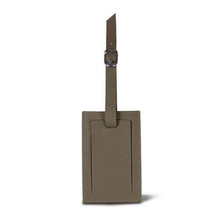 Bag Tag - Dark Taupe - Smooth Leather