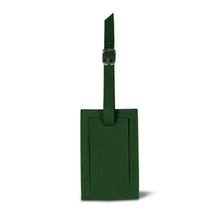 Bag Tag - Dark Green - Smooth Leather