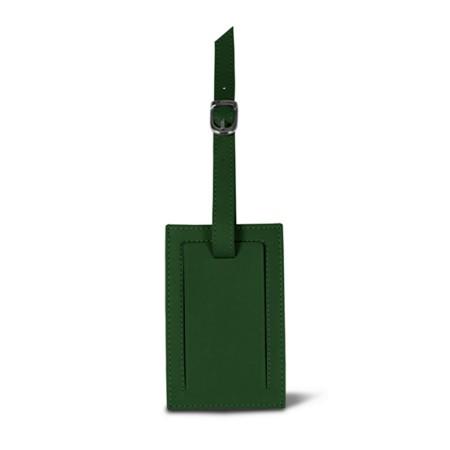 Luggage tag - Dark Green - Smooth Leather