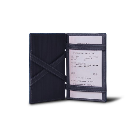 Magic card case for receipts and credit cards