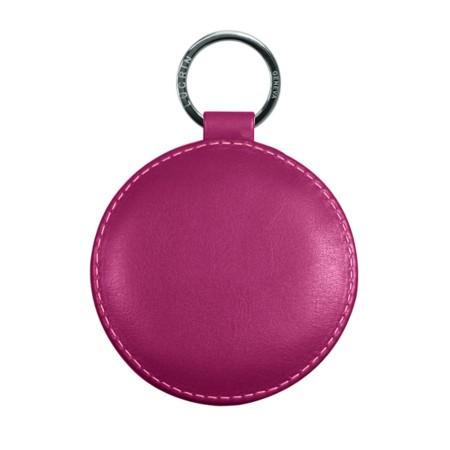 Portachiavi rotondo di 9 cm con anello color