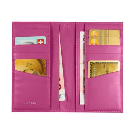 Porte cartes avec poches pour billets