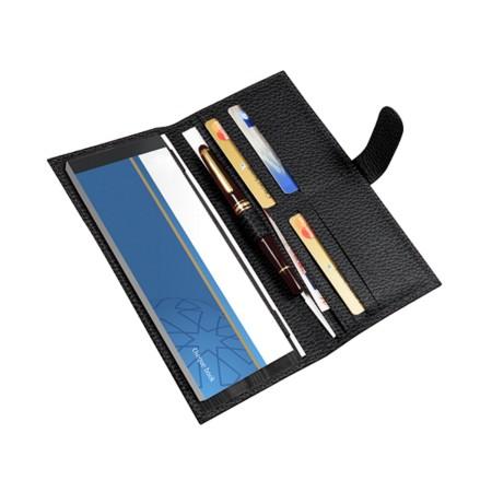 Billetero para talonario de cheques y tarjetas de crédito