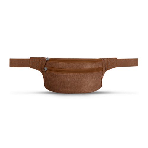 Belt bag - Tan - Granulated Leather