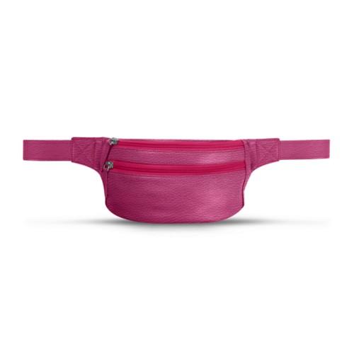 Belt bag - Fuchsia  - Granulated Leather
