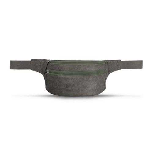 Belt bag - Mouse-Grey - Granulated Leather