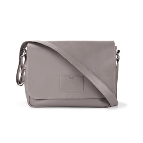 Messenger Bag - Light Taupe - Smooth Leather