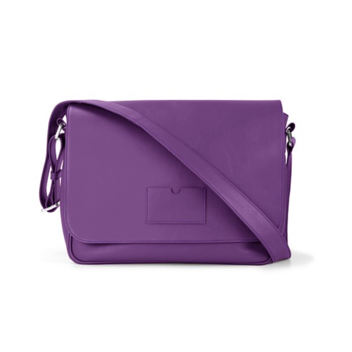 Messenger Bag - Lavender - Smooth Leather