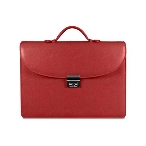 Aktentasche für den erfolgreichen Geschäftsmann - Rot - Leder genarbt