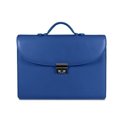 Aktentasche für den erfolgreichen Geschäftsmann - Azurblau  - Glattleder