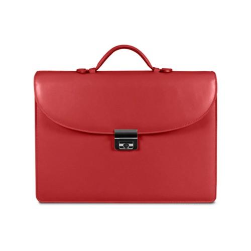 Aktentasche für den erfolgreichen Geschäftsmann - Rot - Glattleder
