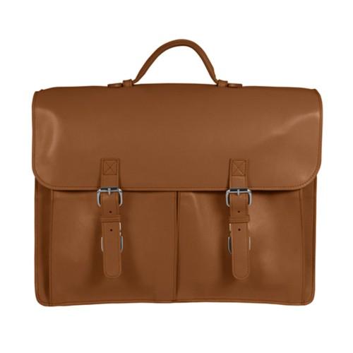 Flexible Aktentasche mit zwei Fächertaschen
