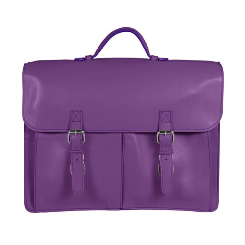 Satchel Briefcase - Lavender - Smooth Leather