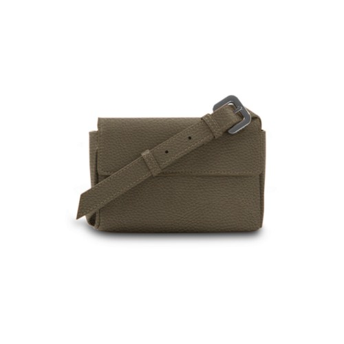 Fanny Pack - Dark Taupe - Granulated Leather