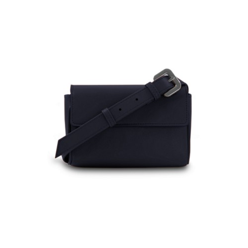 Fanny Pack - Navy Blue - Smooth Leather