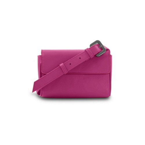 Waist Pouch - Fuchsia  - Smooth Leather