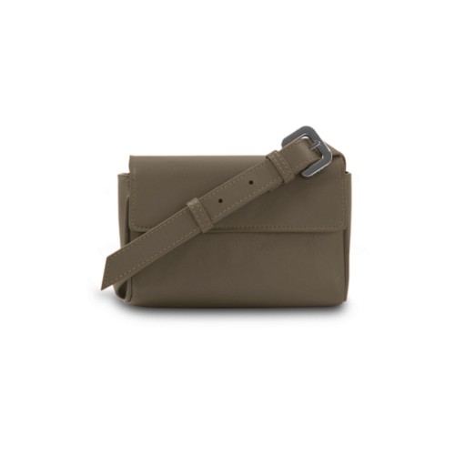 Fanny Pack - Dark Taupe - Smooth Leather