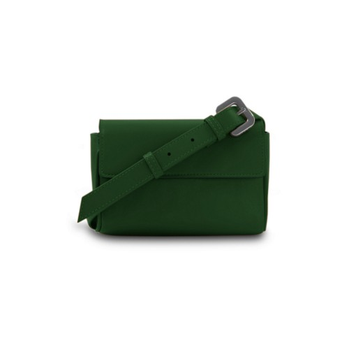 Fanny Pack - Dark Green - Smooth Leather