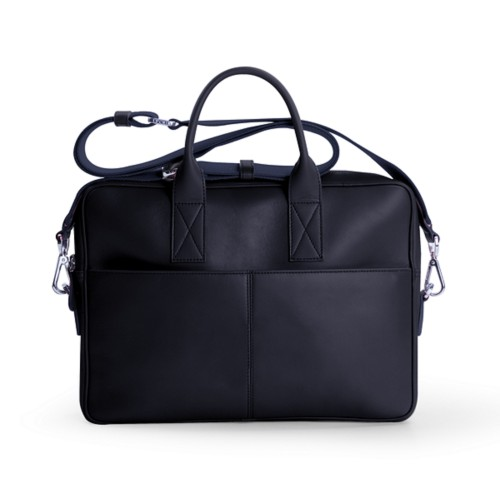 15-inches laptop bag - Navy Blue - Smooth Leather