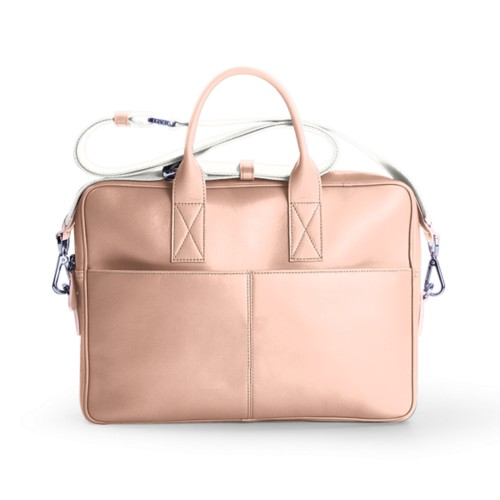 15-inches laptop bag - Nude - Smooth Leather