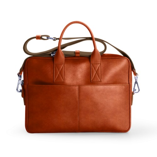 15-inches laptop bag - Tan - Vegetable Tanned Leather