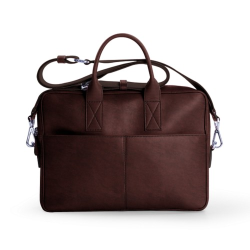 15 inch laptop bag - Dark Brown - Vegetable Tanned Leather