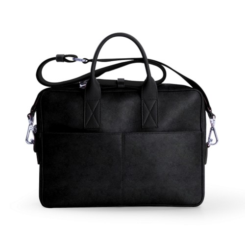 15 inch laptop bag - Black - Vegetable Tanned Leather