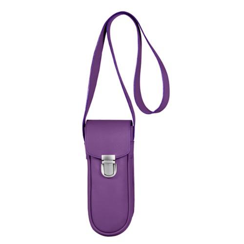 Leren tasje voor 3 ballen - Lavendel - Soepel Leer