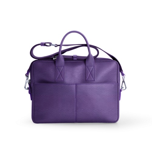 Satchel for 13 inch laptop - Lavender - Granulated Leather