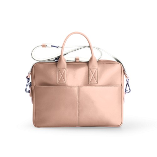 Satchel for 13 inch laptop - Nude - Smooth Leather