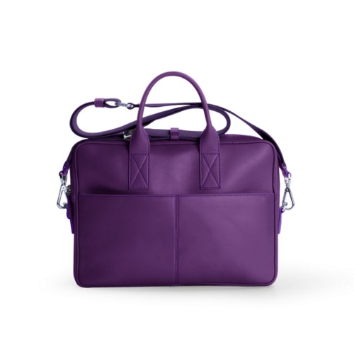 Satchel for 13 inch laptop - Lavender - Smooth Leather