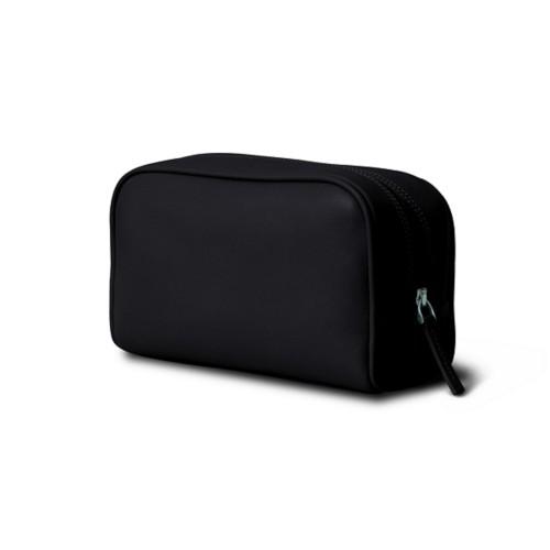 旅行用コスメポーチ (19.5 x 12.5 x 7.5 cm) - Black - Smooth Leather