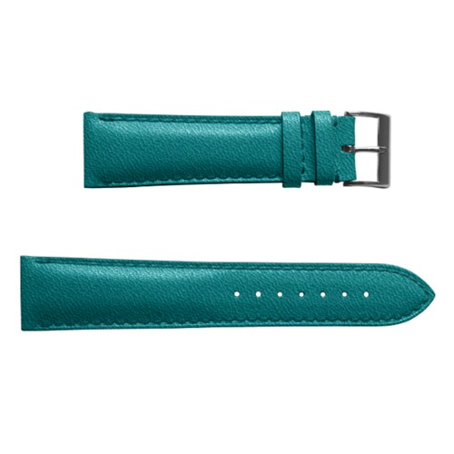 Classic watch-strap for men - 24mm - Sea Green - Goat Leather