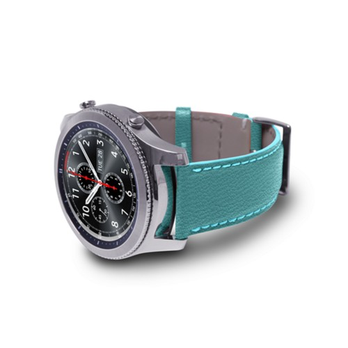 Watch band for Samsung Galaxy Gear S3 - 22mm - Sky Blue - Goat Leather