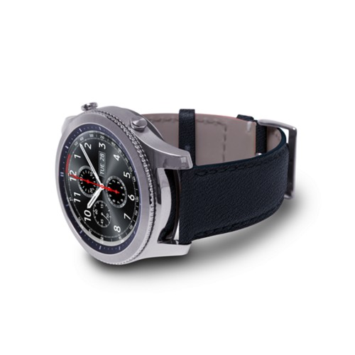 Watch band for Samsung Galaxy Gear S3 - 22mm - Navy Blue - Goat Leather