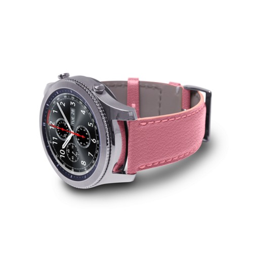 Watch band for Samsung Galaxy Gear S3 - 22mm - Pink - Goat Leather