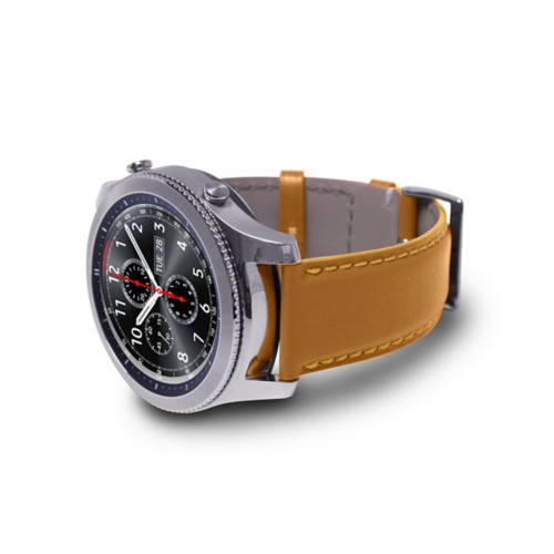 Watch band for Samsung Galaxy Gear S3 - 22mm - Natural - Smooth Leather