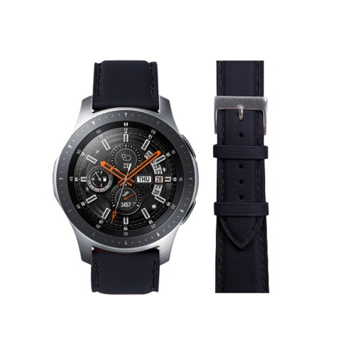 Bracelet Samsung Galaxy Watch - 22mm - Dark Green - Smooth Leather - 22mm - Dark Green - Smooth Leather