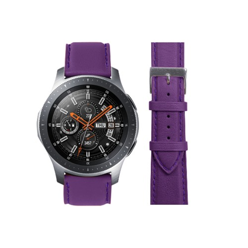 Samsung Galaxy Watch 46mm - 22mm - Lavender - Smooth Leather