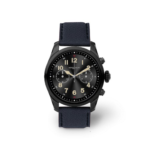 Mont Blanc Summit 2 Smartwatch - 22mm - Navy Blue - Goat Leather