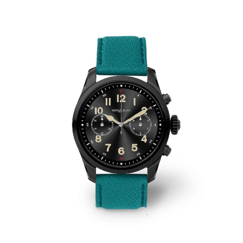 Mont Blanc Summit 2 Smartwatch - 22mm - Sea Green - Goat Leather