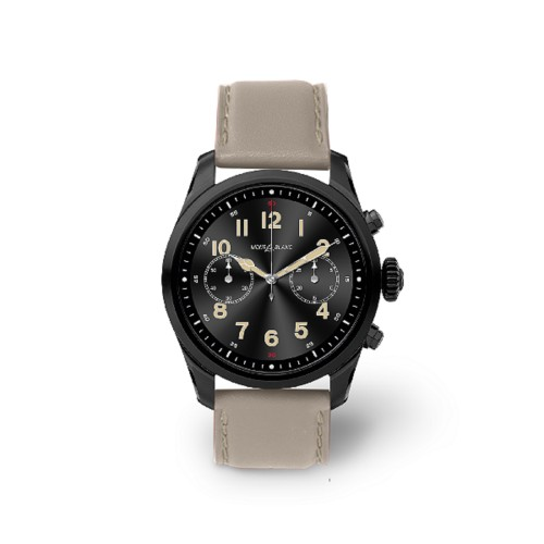 Mont Blanc Summit 2 Smartwatch - 22mm - Light Taupe - Smooth Leather