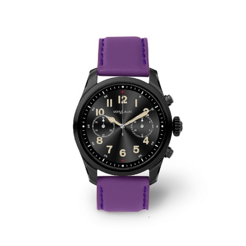Mont Blanc Summit 2 Smartwatch - 22mm - Lavender - Smooth Leather
