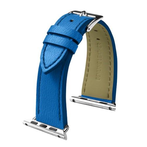 Apple Watch armband 42 mm - Elegance - Azurblau  - Ziegenleder